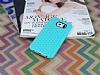 Eiroo Honeycomb Samsung i9800 Galaxy S6 Su Yeşili Silikon Kılıf - Resim 1