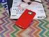 Eiroo Honeycomb Samsung i9800 Galaxy S6 Kırmızı Silikon Kılıf - Resim 1