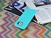 Eiroo Honeycomb Samsung i9800 Galaxy S6 Su Yeşili Silikon Kılıf - Resim 2