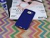 Eiroo Honeycomb Samsung i9800 Galaxy S6 Lacivert Silikon Kılıf - Resim 1