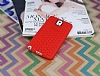 Eiroo Honeycomb Samsung N9000 Galaxy Note 3 Kırmızı Silikon Kılıf - Resim 1