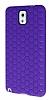 Eiroo Honeycomb Samsung N9000 Galaxy Note 3 Mor Silikon Kılıf - Resim 3
