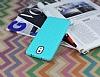 Eiroo Honeycomb Samsung N9000 Galaxy Note 3 Su Yeşili Silikon Kılıf - Resim 2