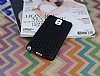 Eiroo Honeycomb Samsung N9000 Galaxy Note 3 Siyah Silikon Kılıf - Resim 2