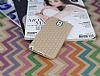 Eiroo Honeycomb Samsung N9000 Galaxy Note 3 Krem Silikon Kılıf - Resim 1