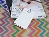 Eiroo Honeycomb Samsung N9000 Galaxy Note 3 Beyaz Silikon Kılıf - Resim 1