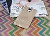Eiroo Honeycomb Samsung N9100 Galaxy Note 4 Krem Silikon Kılıf - Resim 1