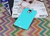 Eiroo Honeycomb Samsung N9100 Galaxy Note 4 Su Yeşili Silikon Kılıf - Resim 1