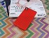 Eiroo Honeycomb Sony Xperia M4 Aqua Kırmızı Silikon Kılıf - Resim 1