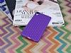 Eiroo Honeycomb Sony Xperia Z3 Plus Mor Silikon Kılıf - Resim 1