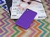 Eiroo Honeycomb Sony Xperia Z3 Mor Silikon Kılıf - Resim 1