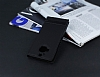 HTC One M9 Plus Gizli Mıknatıslı Pencereli Siyah Deri Kılıf - Resim 2
