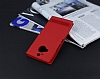 HTC One M9 Plus Gizli Mıknatıslı Pencereli Kırmızı Deri Kılıf - Resim 2