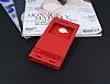 HTC One M9 Plus Gizli Mıknatıslı Pencereli Kırmızı Deri Kılıf - Resim 1