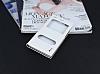 Huawei P8 Lite Gizli Mıknatıslı Çift Pencereli Beyaz Deri Kılıf - Resim 1