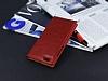 Huawei P8 Lite Gizli Mıknatıslı Çift Pencereli Kırmızı Deri Kılıf - Resim 2