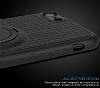 Eiroo Infinity Ring iPhone 7 / 8 Selfie Yüzüklü Siyah Silikon Kılıf - Resim 4