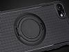 Eiroo Infinity Ring iPhone 7 / 8 Selfie Yüzüklü Siyah Silikon Kılıf - Resim 2