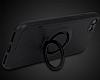 Eiroo Infinity Ring iPhone 7 / 8 Selfie Yüzüklü Siyah Silikon Kılıf - Resim 5