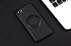 Eiroo Infinity Ring iPhone 7 / 8 Selfie Yüzüklü Siyah Silikon Kılıf - Resim 8