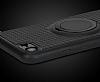 Eiroo Infinity Ring iPhone 7 / 8 Selfie Yüzüklü Siyah Silikon Kılıf - Resim 3