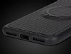 Eiroo Infinity Ring iPhone 7 / 8 Selfie Yüzüklü Siyah Silikon Kılıf - Resim 7