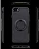 Eiroo Infinity Ring iPhone 7 / 8 Selfie Yüzüklü Siyah Silikon Kılıf - Resim 1