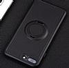 Eiroo Infinity Ring iPhone 7 Plus / 8 Plus Selfie Yüzüklü Siyah Silikon Kılıf - Resim 3