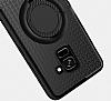 Eiroo Infinity Ring Samsung Galaxy A8 Plus 2018 Selfie Yüzüklü Siyah Silikon Kılıf - Resim 1