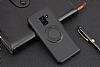 Eiroo Infinity Ring Samsung Galaxy A8 Plus 2018 Selfie Yüzüklü Siyah Silikon Kılıf - Resim 2