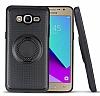 Eiroo Infinity Ring Samsung Galaxy J5 2016 Selfie Yüzüklü Siyah Silikon Kılıf - Resim 1