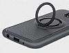 Eiroo Infinity Ring Samsung Galaxy J7 Pro 2017 Selfie Yüzüklü Siyah Silikon Kılıf - Resim 2