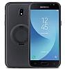 Eiroo Infinity Ring Samsung Galaxy J7 Pro 2017 Selfie Yüzüklü Siyah Silikon Kılıf - Resim 5