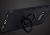 Eiroo Infinity Ring Samsung Galaxy S8 Plus Selfie Yüzüklü Siyah Silikon Kılıf - Resim 6