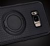 Eiroo Infinity Ring Samsung Galaxy S8 Selfie Yüzüklü Siyah Silikon Kılıf - Resim 8