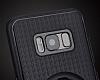 Eiroo Infinity Ring Samsung Galaxy S8 Selfie Yüzüklü Siyah Silikon Kılıf - Resim 2