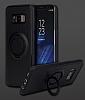Eiroo Infinity Ring Samsung Galaxy S8 Selfie Yüzüklü Siyah Silikon Kılıf - Resim 4