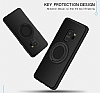 Eiroo Infinity Ring Samsung Galaxy S9 Selfie Yüzüklü Siyah Silikon Kılıf - Resim 6