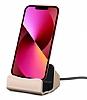Eiroo iPhone 13 Mini Lightning Masaüstü Dock Gold Şarj Aleti