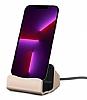 Eiroo iPhone 13 Pro Lightning Masaüstü Dock Gold Şarj Aleti