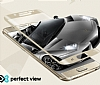 Eiroo iPhone 6 / 6S Curve Tempered Glass Full Beyaz Mat Cam Ekran Koruyucu - Resim 4