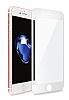 Eiroo iPhone 6 Plus / 6S Plus Curve Tempered Glass Full Beyaz Mat Cam Ekran Koruyucu - Resim 5