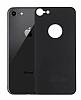 Eiroo iPhone 7 / 8 Tempered Glass Arka Siyah Cam Gövde Koruyucu - Resim 5
