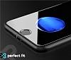 Eiroo iPhone 7 / 8 Tempered Glass Arka Siyah Cam Gövde Koruyucu - Resim 4