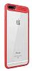 Eiroo iPhone 7 Plus /8 Plus Kamera Korumalı Kırmızı Kenarlı Rubber Kılıf - Resim 5