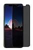 Eiroo iPhone X / XS Privacy Tempered Glass Premium Cam Ekran Koruyucu - Resim 1