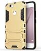 Eiroo Iron Armor Huawei Nova Standlı Ultra Koruma Dark Silver Kılıf - Resim 2