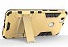 Eiroo Iron Armor Huawei Nova Standlı Ultra Koruma Gold Kılıf - Resim 3