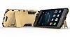 Eiroo Iron Armor Huawei P10 Standlı Ultra Koruma Gold Kılıf - Resim 1