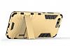 Eiroo Iron Armor Huawei P10 Standlı Ultra Koruma Gold Kılıf - Resim 5